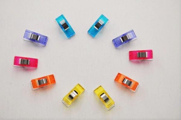 Wonder Clips - 10 Stoffklammern farbig sortiert