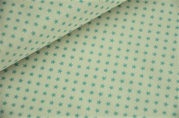 Webware - Tilda - Tiny Star, light blue - 100% Baumwolle