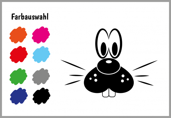 Velours-Motive - Bunny - Farbauswahl