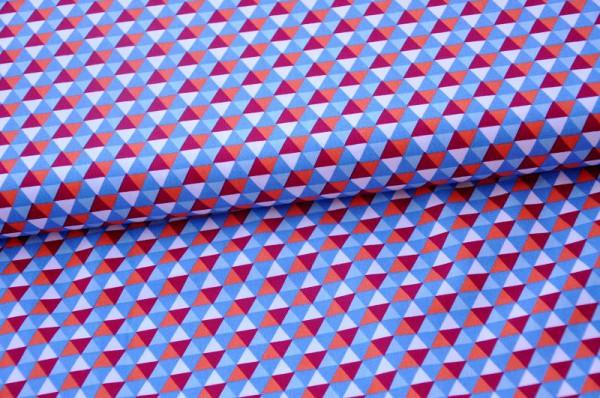 Hamburger Liebe - Fly Mini Hex - hellblau/orange, 100% Baumwolle