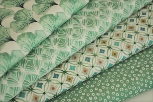 Stoffpaket Webware - Emilie, grün - Baumwollstoffe, Frühlingsstoffe