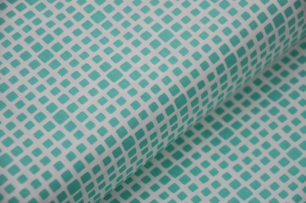 Art Gallery Fabrics - Squared Elements, turquoise