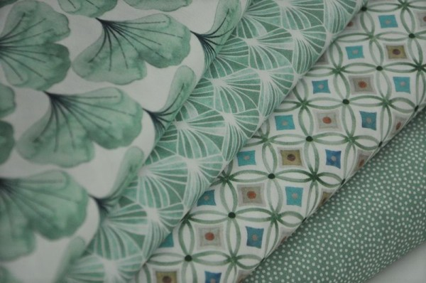 Stoffpaket Webware - Emilie, grün - 100% Baumwolle, hilco