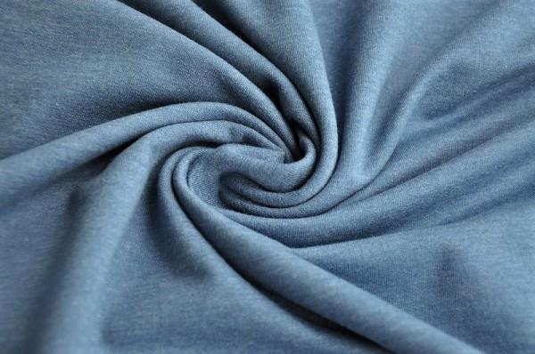 Sommersweat - jeansblau, melange