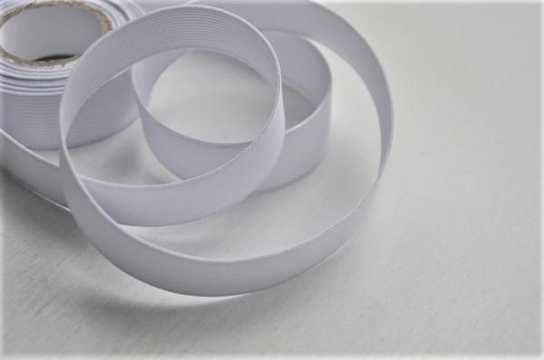 Gummiband - 25mm - weiß