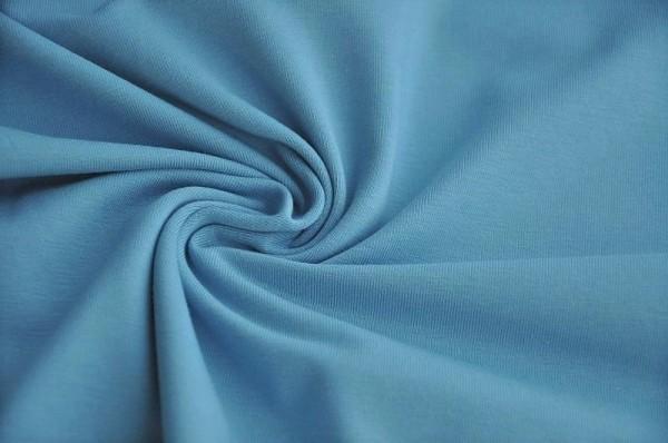 Bio Jersey - uni, denim blau