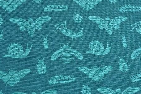 Birch Fabrics - Tonal Bugs, blue