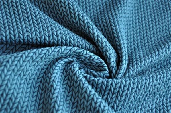 Bio Jacquard - Big Knit Knit, garda/grau-blau