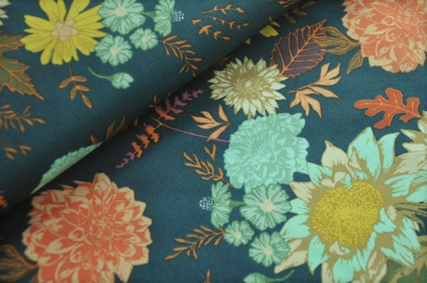 Webware - Autum Vibes, Floral Glow Twilit - Art Gallery Fabrics