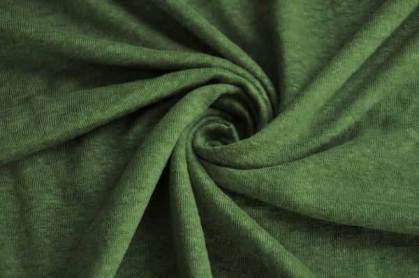 Mind the Maker - Fine Linen Knit, olive green - Leinen Jersey, Meterware, Sommerstoffe, Damenstoffe