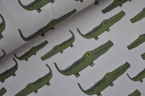 Bio Jersey - lillestoff - Ali Gator, Krokodile, typisch Jungs, Kinderstoff