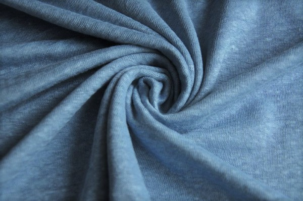 Mind the Maker - Leinen Jersey - Fine Linen Knit, faded blue - Meterware, Sommerstoffe, Bekleidungsstoffe