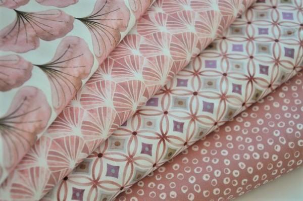 Stoffpaket Webware - Emilie, rosé - 100% Baumwolle