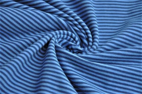 Jersey - Mini-Ringel, blau/dunkelblau