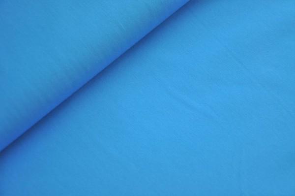Hico - Popeline, uni blau - Webware 100% Baumwolle
