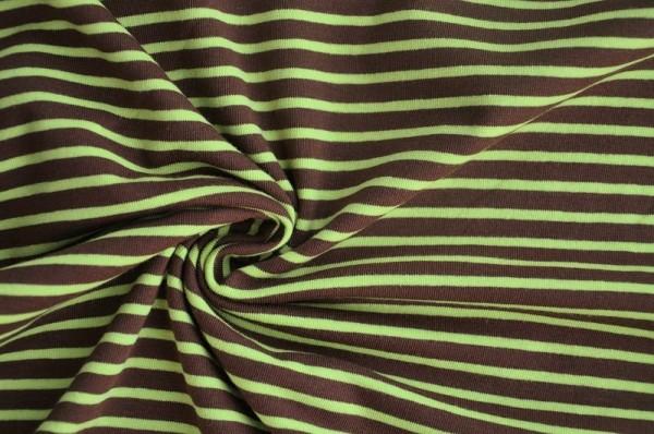 Hilco Jersey Campan - braun/apfelgrün