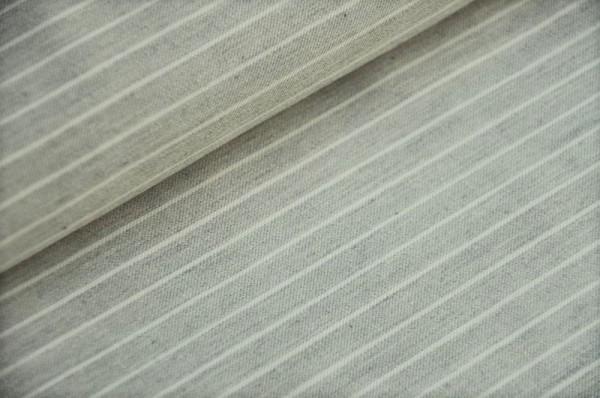 Webware - Baumwoll-Twill - Lola Streifen, grau - 100% Baumwolle, Meterware, Stoffe online kaufen