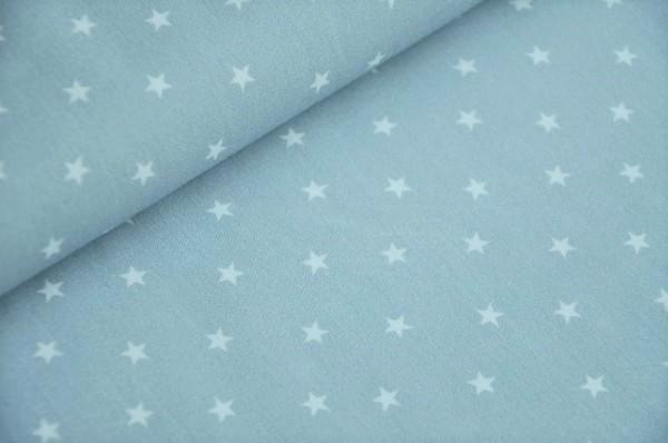 Webware - Popeline - Mini Baby, Sterne, blaugrau - 100% Baumwolle
