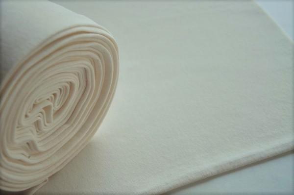 Bio-Bündchen glatt - ecru - 95% Baumwolle (kba), 5% Elasthan