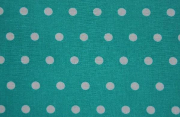 Beschichtete Baumwolle - Punkte celadon