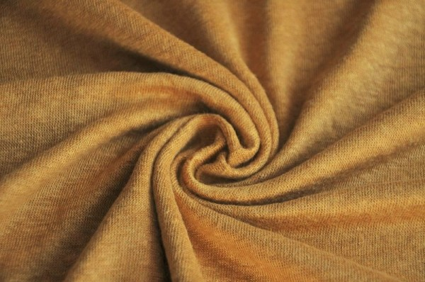 Mind the Maker - Leinen Jersey - Fine Linen Knit, dry mustard - Damenstoffe, Meterware, Bekleidungsstoff
