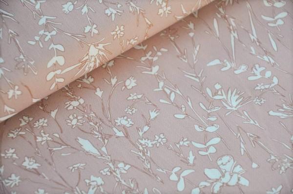 Bio Webware - A House in Bloom, rose - Cloud9 Fabrics - Bio Stoffe 100% Baumwolle (kba)