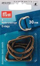 Prym Halbrundringe, altmessing, 30mm